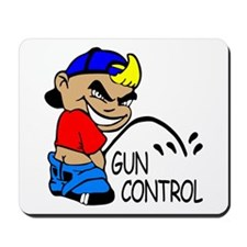 P On Gun Control Mousepad