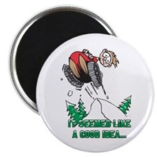 "Funny Snowmobile 2.25"" Magnet (10 pack)"