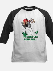 Funny Snowmobile Kids Baseball Jersey