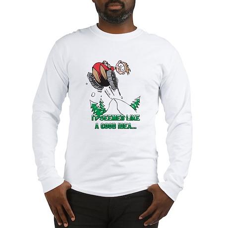 Funny Snowmobile Long Sleeve T-Shirt