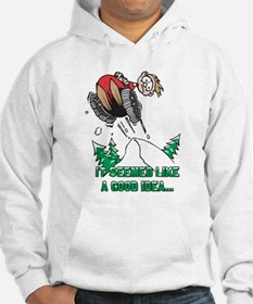 Funny Snowmobile Hoodie