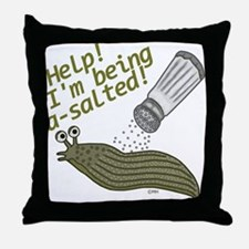 Funny Salted Slug Pun Cartoon Animals Throw Pillow
