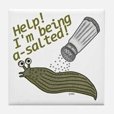 Funny Salted Slug Pun Cartoon Animals Tile Coaster