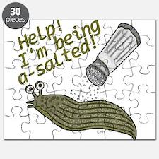 Funny Salted Slug Pun Cartoon Animals Puzzle