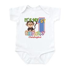 Monkey 1st Birthday Custom Infant Bodysuit
