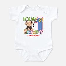 Monkey 1st Birthday Custom Onesie