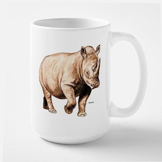 Rhino Rhinoceros Large Mug