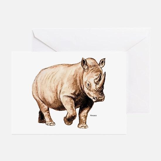 Rhino Rhinoceros Greeting Cards (Pk of 10)