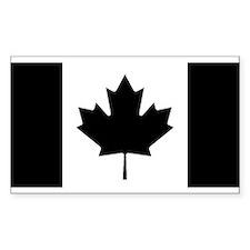 Canada: Black Military F Bumper Stickers