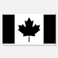 Canada: Black Military F Bumper Stickers