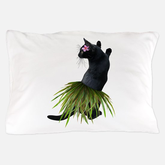 Hula Cat Pillow Case