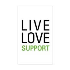 Live Love Support Rectangle Decal