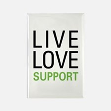 Live Love Support Rectangle Magnet