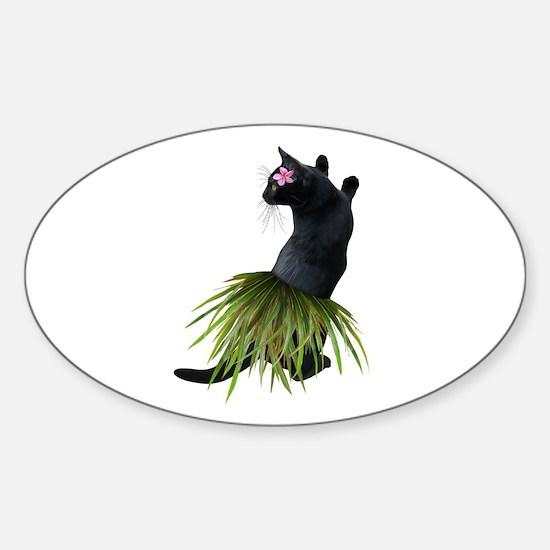 Hula Cat Bumper Stickers