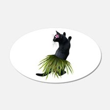 Hula Cat Wall Decal