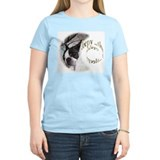 Boston terrier sleeping Women's Light T-Shirt