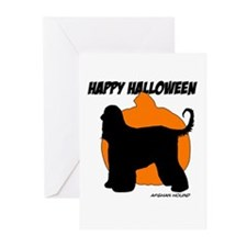 Afghan Hound Halloween Greeting Cards (Pk of 10)