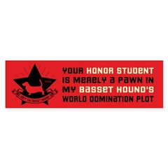 Basset Hound Domination Bumper Bumper Sticker