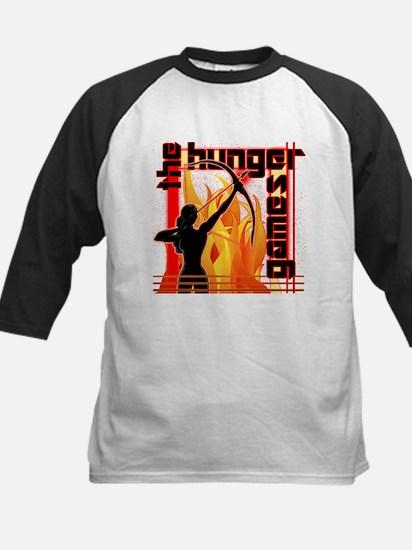 Katniss on Fire Hunger Games Gear Baseball Jersey