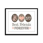 Peace Love BFF Friendship Framed Panel Print