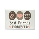 Peace Love BFF Friendship Rectangle Magnet (10 pac