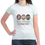 Peace Love BFF Friendship Jr. Ringer T-Shirt