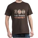 Peace Love BFF Friendship Dark T-Shirt