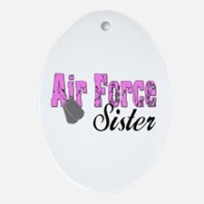Air Force Sister Oval Ornament