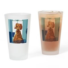 Dog nightshirts Drinking Glass