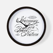 Harmony, Love in black Wall Clock