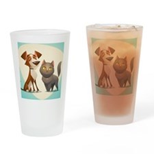Cute Dog nightshirts Drinking Glass