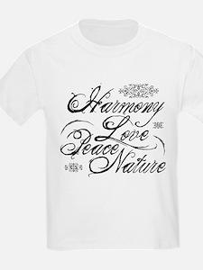 Harmony, Love in black T-Shirt