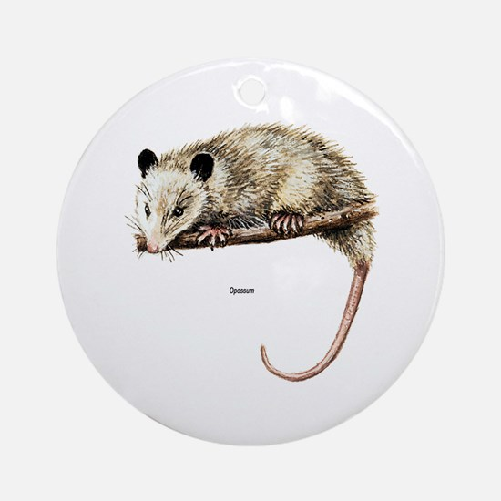 Opossum Possum Ornament (Round)