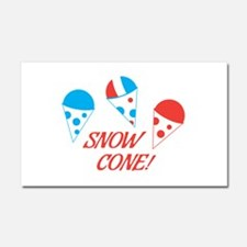 Snow Cones Car Magnet 20 x 12