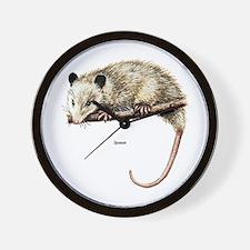 Opossum Possum Wall Clock