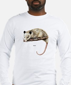 Opossum Possum (Front) Long Sleeve T-Shirt