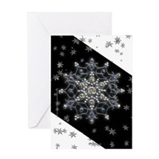 Winter Solstice Snowflake Greeting Card