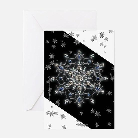 Winter Solstice Snowflake Greeting Card