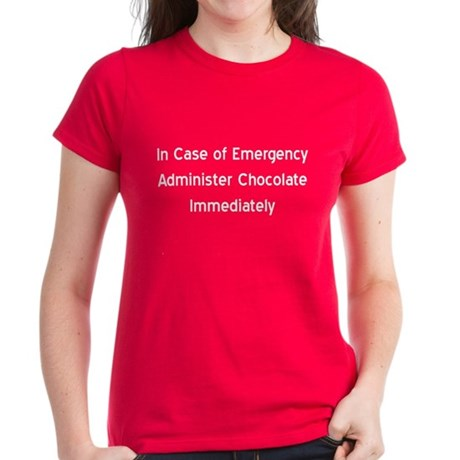 Chocolate Emergency Women's Dark T-Shirt
