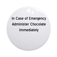 Chocolate Emergency Ornament (Round)