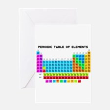 Periodic Table of Elements in Neon Greeting Cards