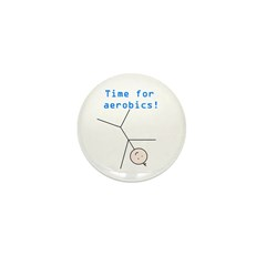 TIME FOR AEROBICS! Mini Button (100 pack)