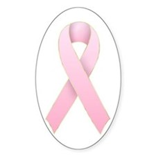 Pink Ribbon 1 Oval Decal