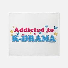 Addicted to K-Drama Throw Blanket