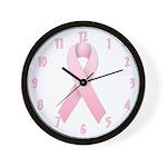 Pink Ribbon 1 Wall Clock