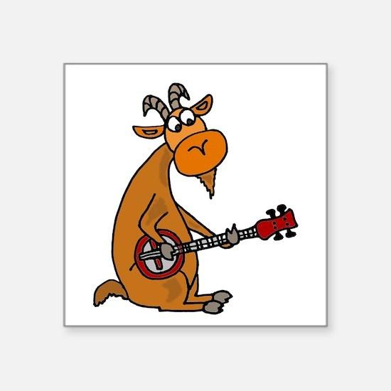 Goat Playing Banjo Sticker