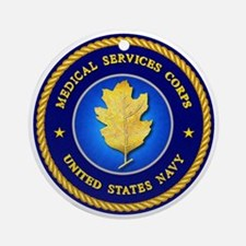 Navy Medical Services Ornament (Round)