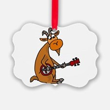 Goat Playing Banjo Ornament