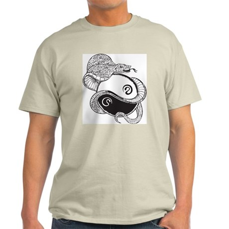 Yin Yang Snake Light T-Shirt