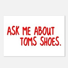 Ask Me About TOMS Shoes Postcards (Package of 8)